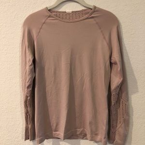 Fabletics long sleeve workout top (blush)